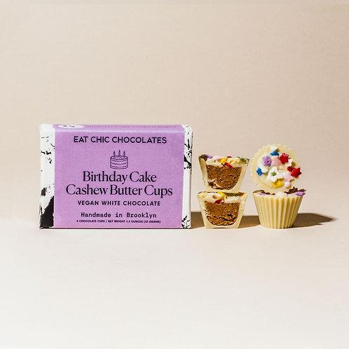 White Chocolate Birthday Cake Cashew Butter Cups
