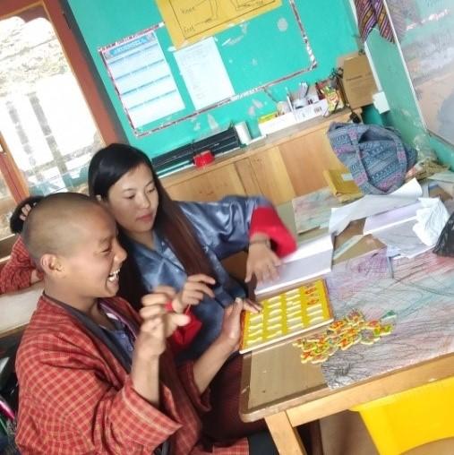 Special needs teacher Tshering
