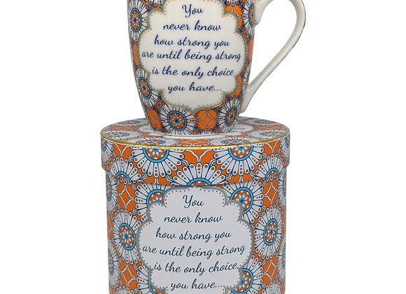 Inspirational Bone China Mug - Being Strong