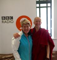 Emma Slade is interviewed by Clare Balding for BBC Radio Sunday Breakfast