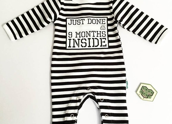 Just Done 9 Months Inside® New Born Baby Grow