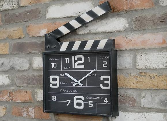 Movie Makers' Clapperboard Metal Clock