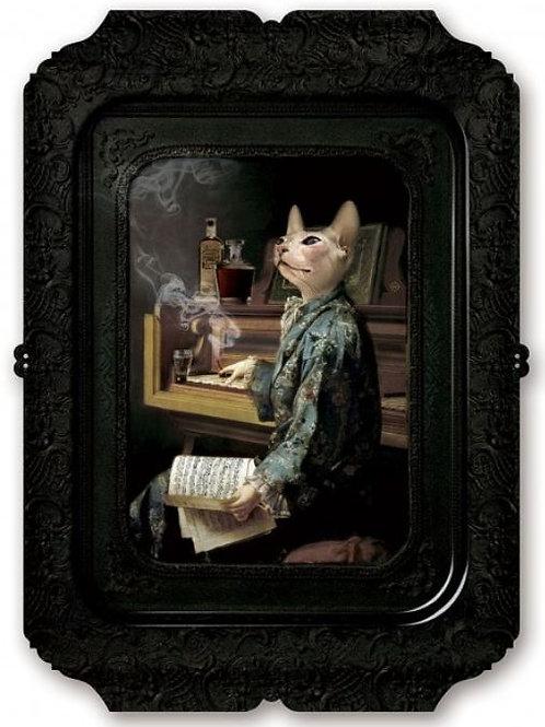 Composer Cat in Smoking Jacket
