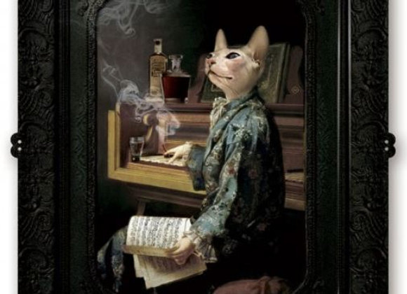 Composer Cat in Smoking Jacket