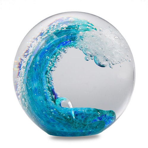 The Great Wave Glass Paperweight