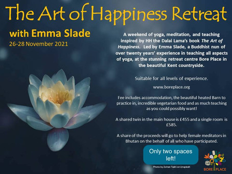 Retreat with Emma Slade at Bore Place, Kent in November 2021