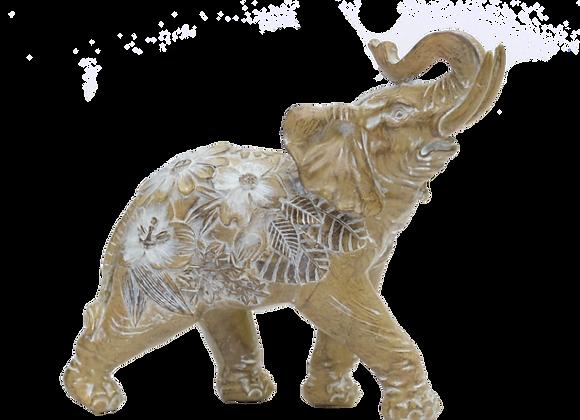 Elephant With Flowers