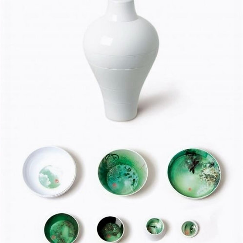 Faux Samblants Ming Vase Shape Plate & Bowl Set