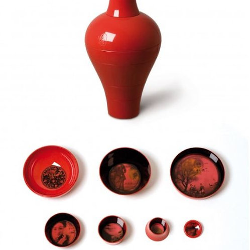 Red Ming Set of Bowls & Plates by iBride