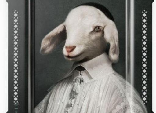 Innocent Pure White Lamb Choir Boy Tray/Wall Art