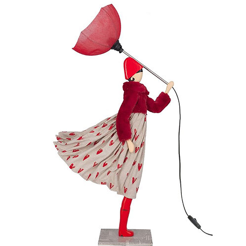 Scarlet Lamp The Girl In Red With Umbrella