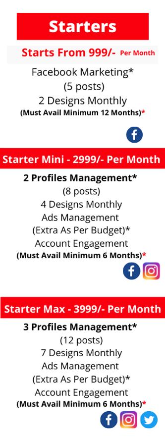 Social Media Starters