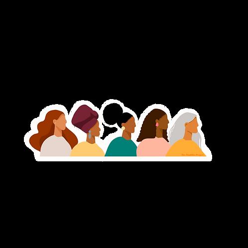 5 Women Sticker