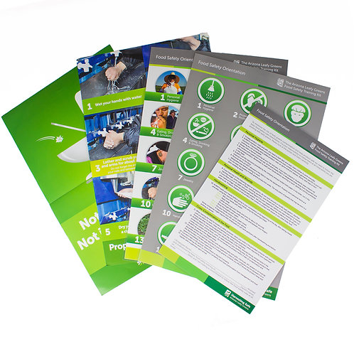 Food Safety Training Posters - full set English & Spanish