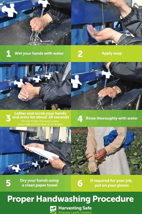 Handwashing Poster - English