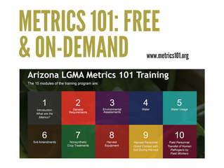 Metrics 101 training officially launches