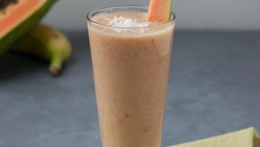 Papaya & Coconut smoothie