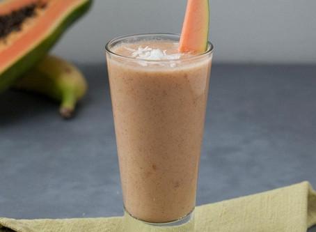 Papaya & Coconut smoothie