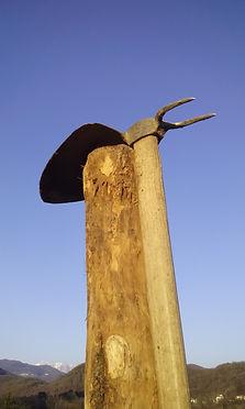 Zappa e palo ha la forma di una lumaca