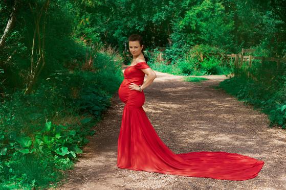 Czerwona sukienka- rozmiar uniwersalny