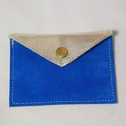 PEAU-RTE CARTES bleu et doré