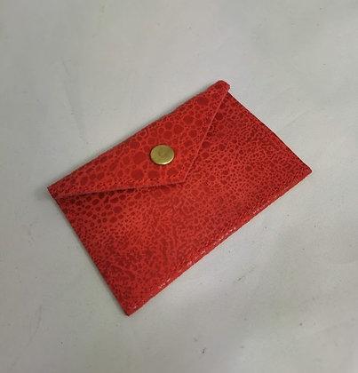 PEAU-RTE CARTES rouge texturé