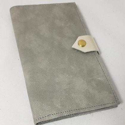 PEAU-RTE CHEQUIER gris