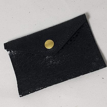 PEAU-RTE CARTES noir texturé