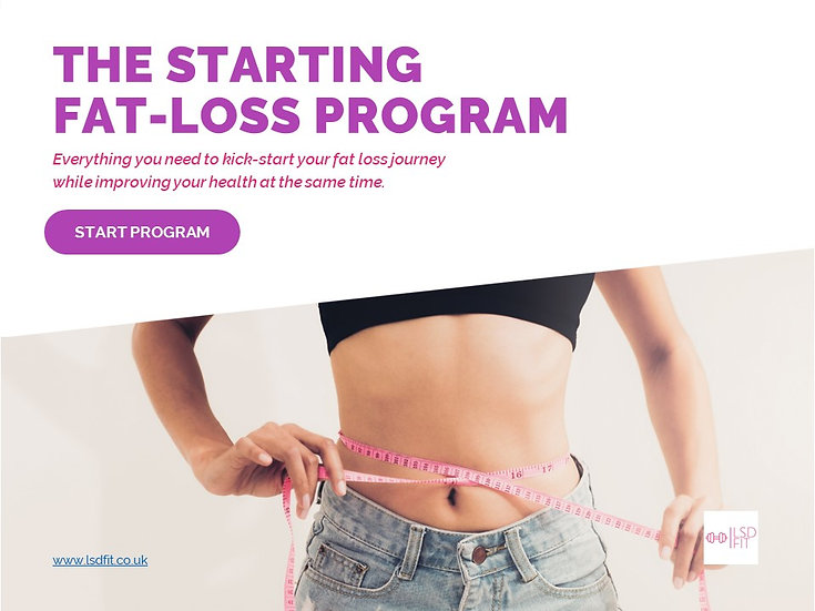 Starting fat loss program, kick start your fat loss journey