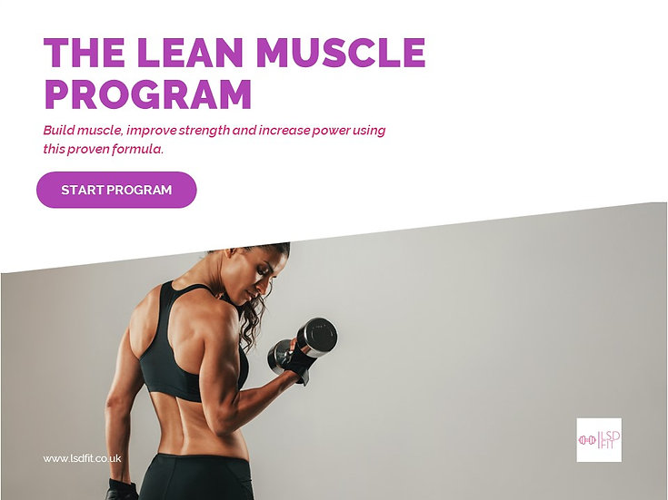 build muscle, improve strength and increase power