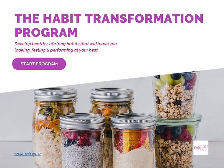 Habit transformation program, transform your habits for a healthy lifestyle