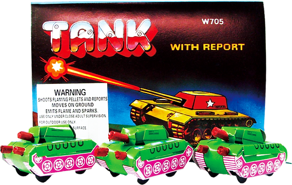 Tank Fireworks with Stars