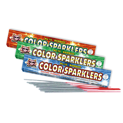 #10 Color Bamboo Sparklers