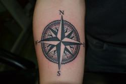 The compass tattoo