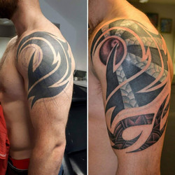 Before & After tattoo