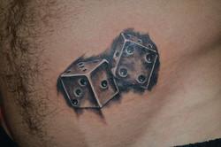 Dice 3d tattoo