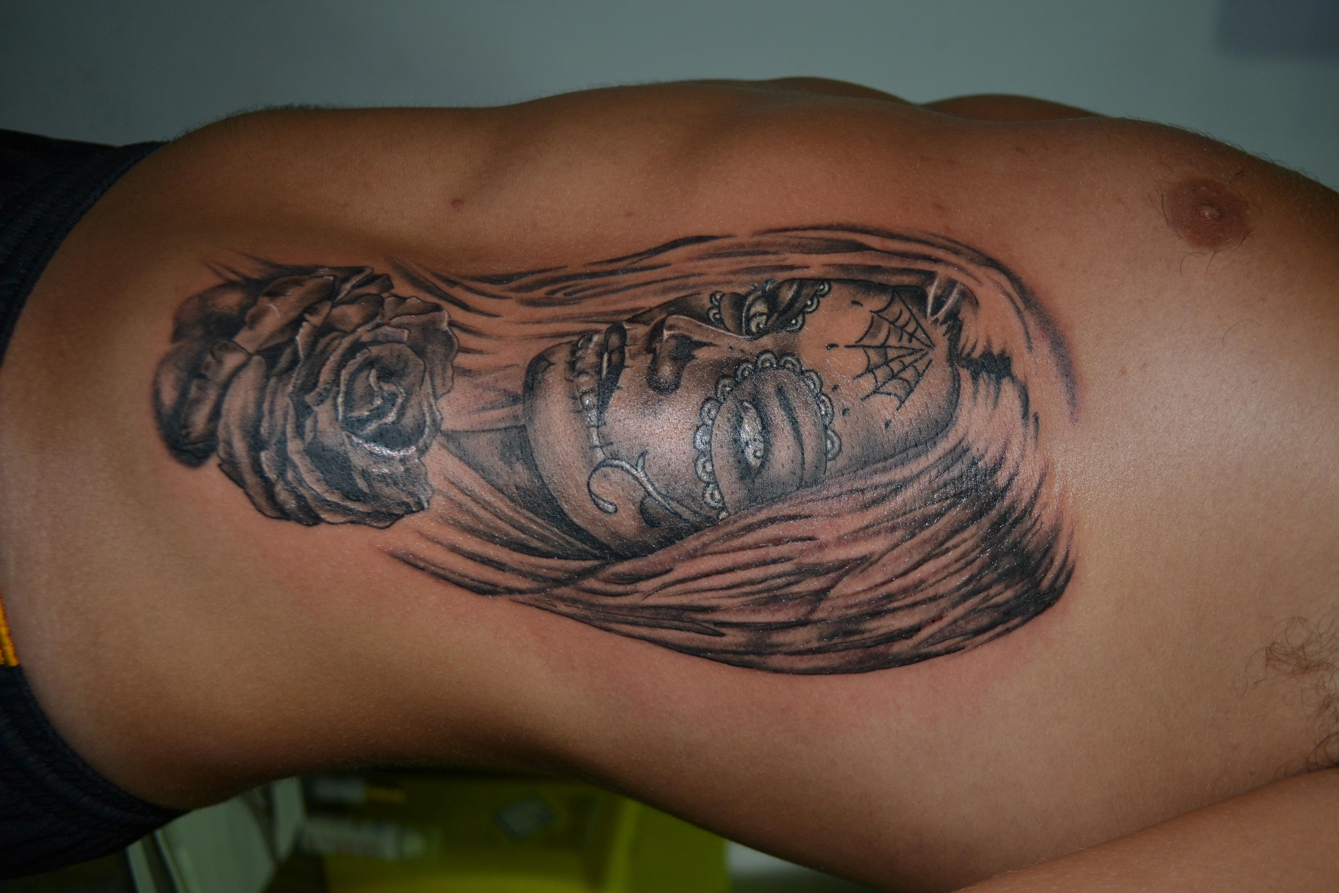 Suger skull tattoo