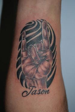 Hook em Horns Tattoo