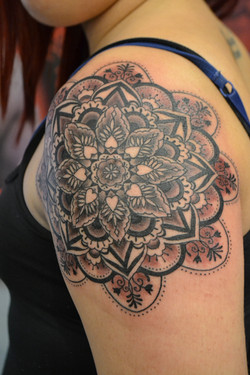 Mandala design tattoo