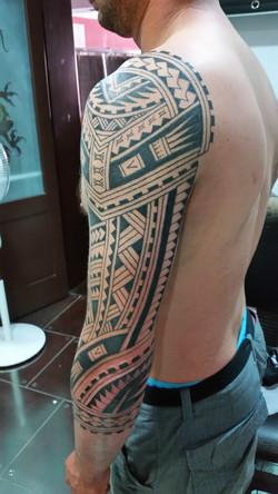 Polynesian full sleeve pic2 tattoo
