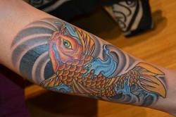 Chinese carp fish tattoo