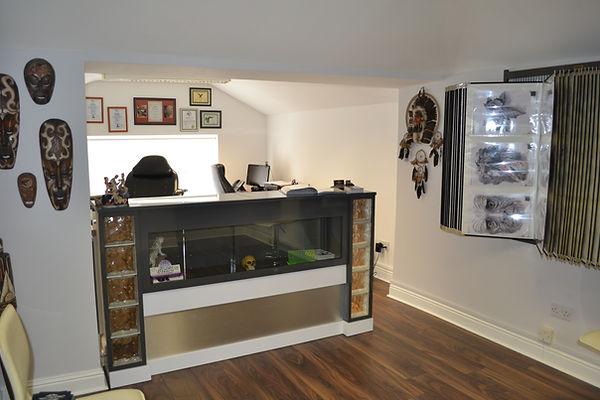 The waiting area Skin Graphics tattoo studio