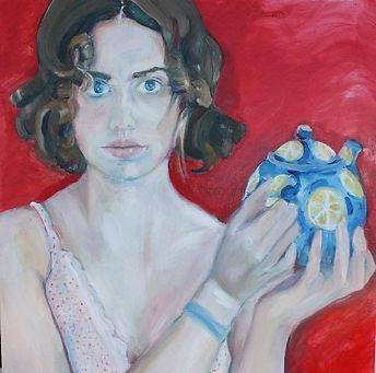 """Miriam"", 40x40 cm, Acrylic on Canvas, 2015, Trondheim,  £300"
