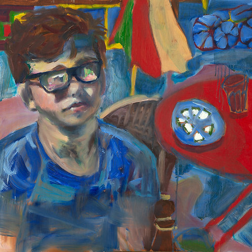 The Young Shostokovich (Oil on board)