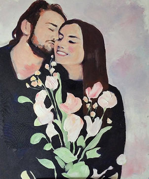 """COMMISSION: """"Kristen and Vidar"""", Acrylic on canvas,2016, Trondheim  SOLD"""