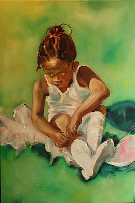"""Ballerina Wings"", Oil on Canvas, 1mx45cm, 2014"
