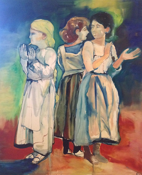 """""""Come Let's be Merry""""  100x120 cm, Oil on Canvas,2015, Trondheim"""