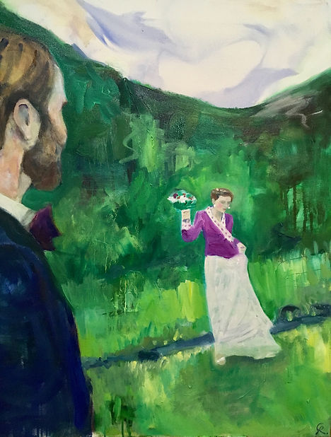 """""""Norsk Bryllup"""" (Norwegian Wedding) 1mx50cm, 2018, PRIVATE OWNERSHIP"""