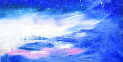 """Call it Sky"", Oil on Wood, 32x59cm,November 2017. Location: Glasgow. £378    "