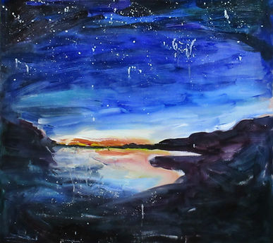 """Night like the first night"",  Oil on Wood, 61x57cm,November 2017, Location: Edinburgh. £695 "